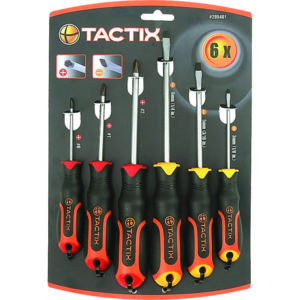 Tactix Screwdriver 6pc Set Slot & PH