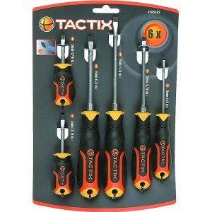 Tactix 6pc Screwdriver Set - Slot