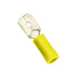 Champion Yellow Male Push-On Spade Terminal -10pk