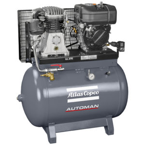 Atlas Copco Diesel 5.2HP 21.9CFM 270L Compressor