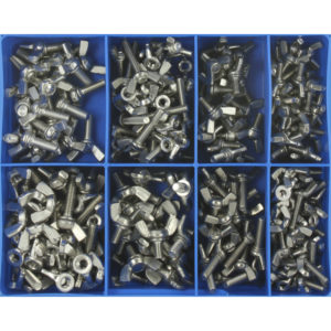 230PC MM WING SCREW & WING NUT ASSORTMENT 316/A4