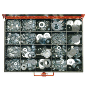 2190PC METRIC & IMPERIAL FLAT WASHER ASSORTMENT