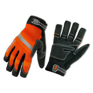 PROFLEX® 872 HI-VIS GENERAL DUTY MESH GLOVES - M