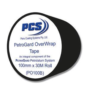 PCS PETROGARD PVC OVERWRAP TAPE 100MM X 30M -BLACK