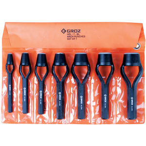 Groz 7pc Arch Punch Set (Bell Type)