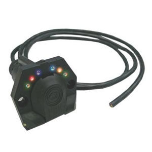 KT Pre Wired LED 7-Pin Round Trailer Socket -Small**