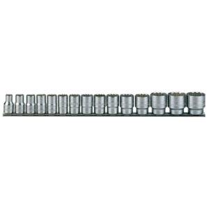 Teng 15pc 1/2in Dr. AF Socket Set 3/8-1-1/4in 12Pnt