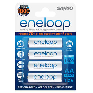 Panasonic Eneloop 1900Mah 1.2V Rechargeable AA Battery (4pk)
