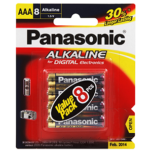 Panasonic AAA Battery Alkaline (8pk)