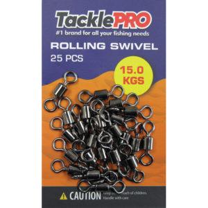 TacklePro Rolling Swivel 15.0kg - 25pc