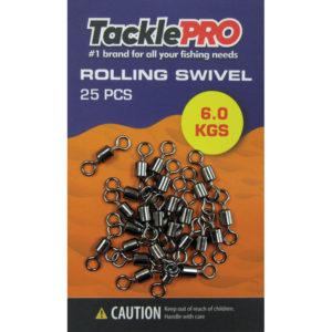 TacklePro Rolling Swivel 6.0kg - 25pc