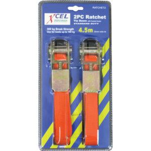 Xcel 4.5m Ratchet Tie Down 2Pc