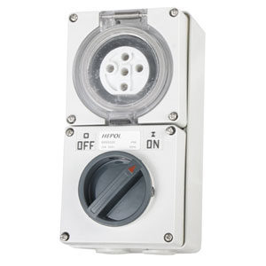 20A 5 Round Pin 500V Switched Socket**