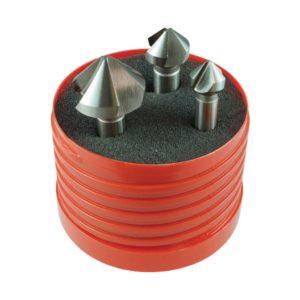 Holemaker 3pc 3-Flute 90deg Countersink Set 10.4/16.5/25.0mm