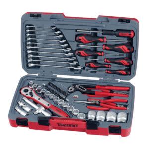 Teng 68pc 1/2in Dr. Metric Socket & Tool Set 12Pnt
