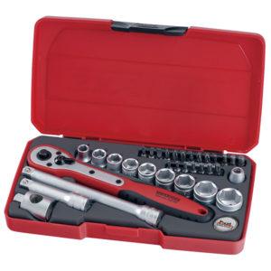 Teng 34pc 3/8in Dr. Metric Reg. Socket Set
