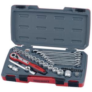 Teng 39pc 3/8in Dr. Metric Reg. Socket & Spanner Set