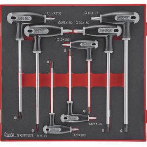 Teng 7pc Torx Tp/Tpx T-Handle Set 10-40-TED-Tray