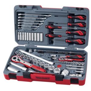 Teng 95pc 1/4 & 1/2in Dr. Metric Socket & Tool Set