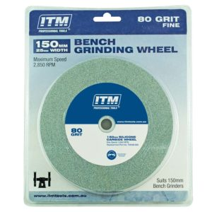 ITM Grinding Wheel Silicone Carbide 150 x 25mm 80 Grit Fine