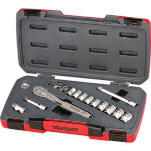 Teng 16pc 3/8in Dr. 4430 Stainless Metric Socket Set**