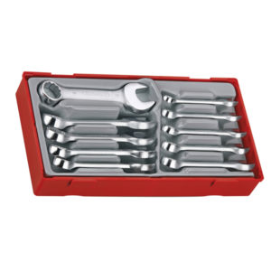 10PC ROE COMBINATION STUBBY SPANNER SET 10-19MM