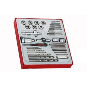 Teng 34pc Tap & Die Set w/Accessories - TTD-Tray
